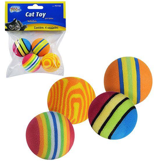 Brinquedo para Gatos bola de EVA  - Super Tri Shop - Bolas - Utilidades - Presentes