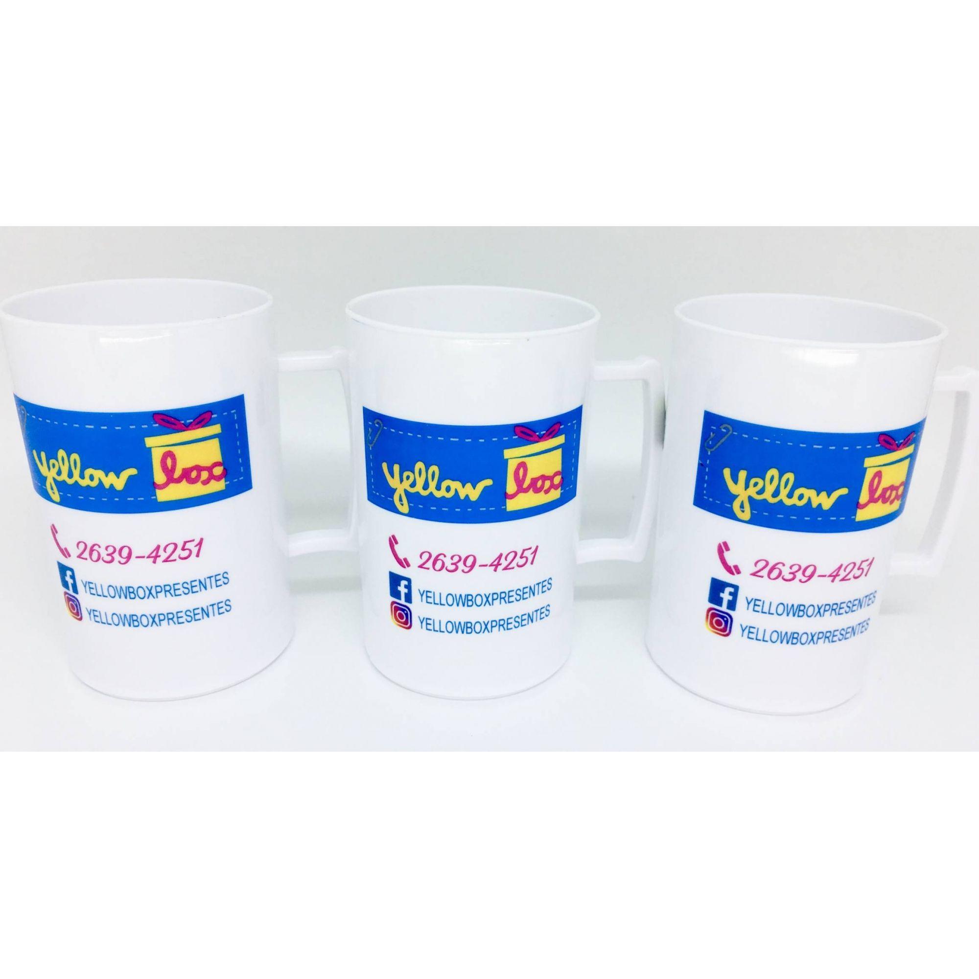 Caneca Acrílica 300 ml Personalizada - Kit com 100 unidades  - Super Tri Shop - Bolas - Utilidades - Presentes
