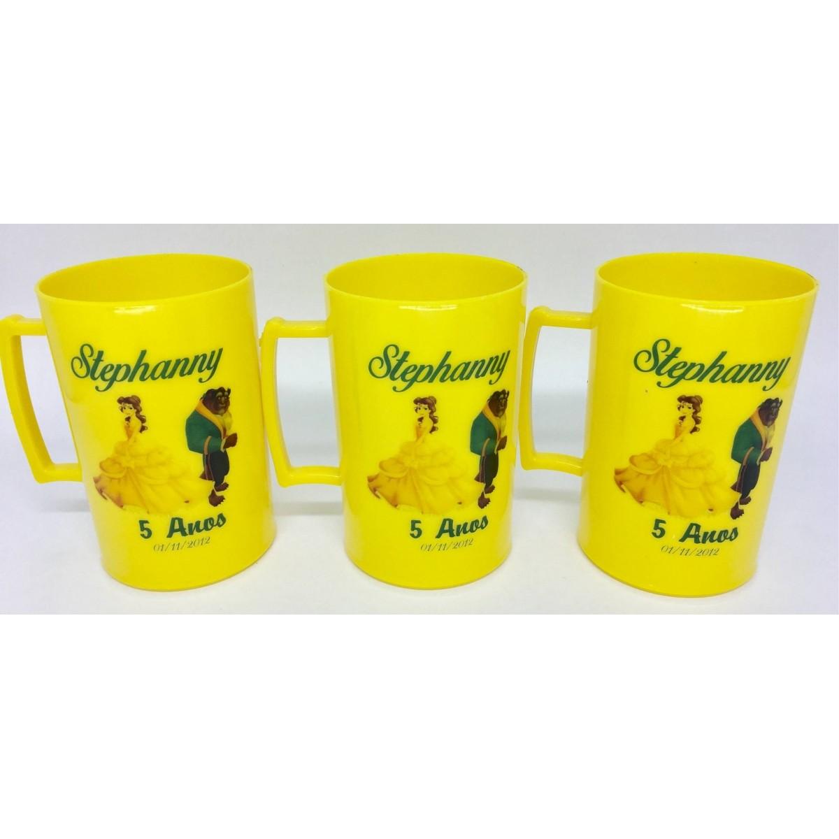 Caneca Acrílica Colorida Personalizada Infantil - Kit com 20 unidades  - Bolas Lassabia - Bolas e Brindes Personalizados