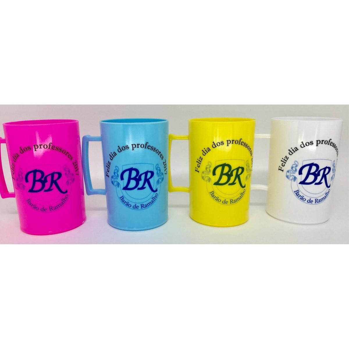 Caneca Acrílica Colorida Personalizada - Kit 20 unidades  - Bolas Lassabia - Bolas e Brindes Personalizados