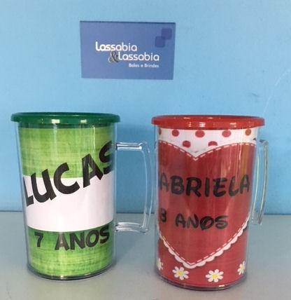 Caneca Acrílica Foto - Kit com 20 Unidades  - Bolas Lassabia - Bolas e Brindes Personalizados