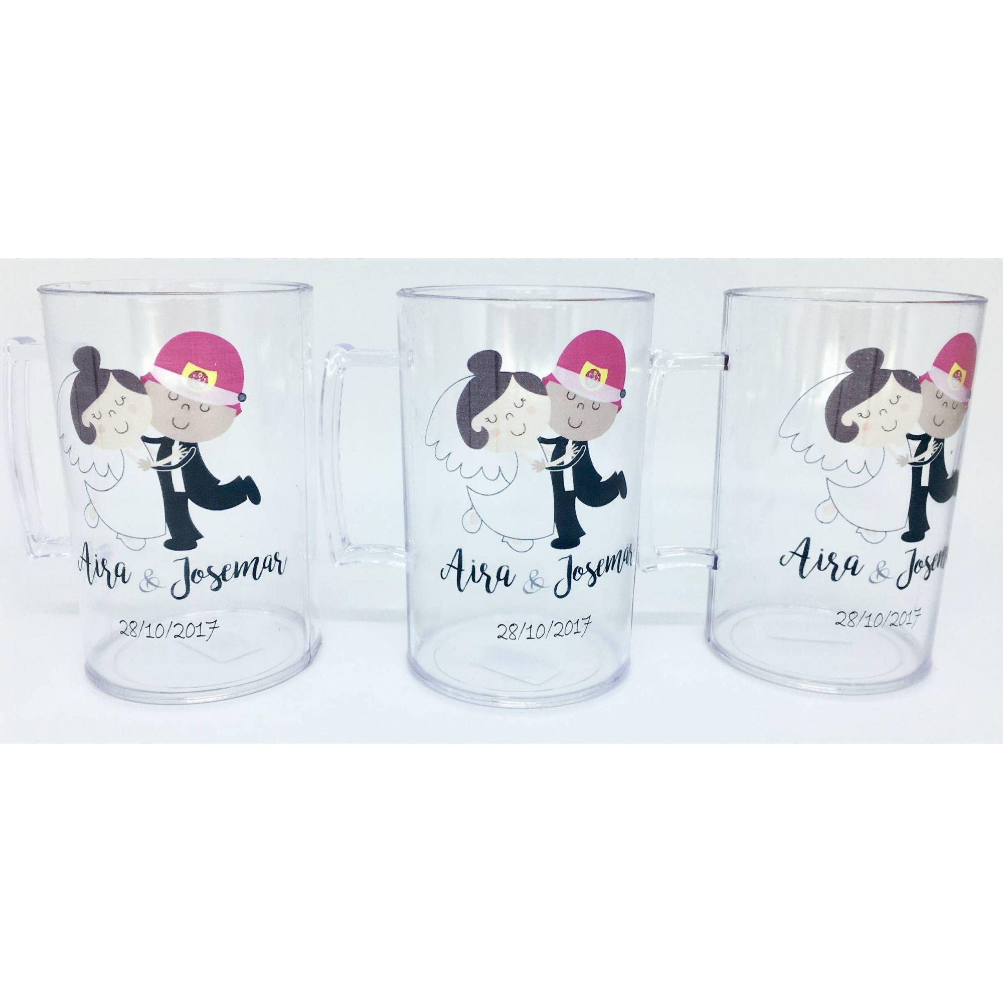 Canecas Personalizada para Casamento  - Bolas Lassabia - Bolas e Brindes Personalizados