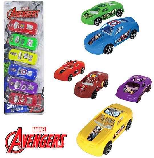 Carro a fricção Vigadores/Avengers Colors Kit com 6 Peças  - Super Tri Shop - Bolas - Utilidades - Presentes