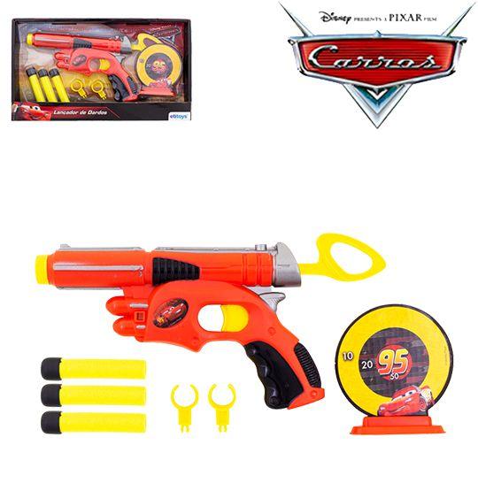 Carros - Pistola Lança Dardos Espuma +Alvo   - Bolas Lassabia - Bolas e Brindes Personalizados