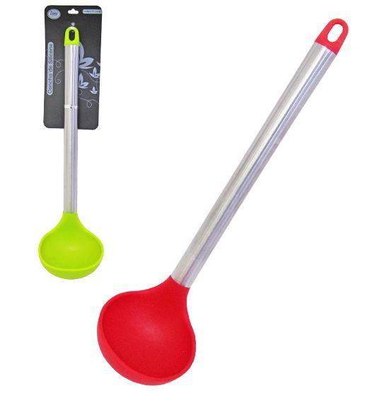 Concha de Silicone Colors Cabo de Inox 31X8,5 cm  - Super Tri Shop - Bolas - Utilidades - Presentes