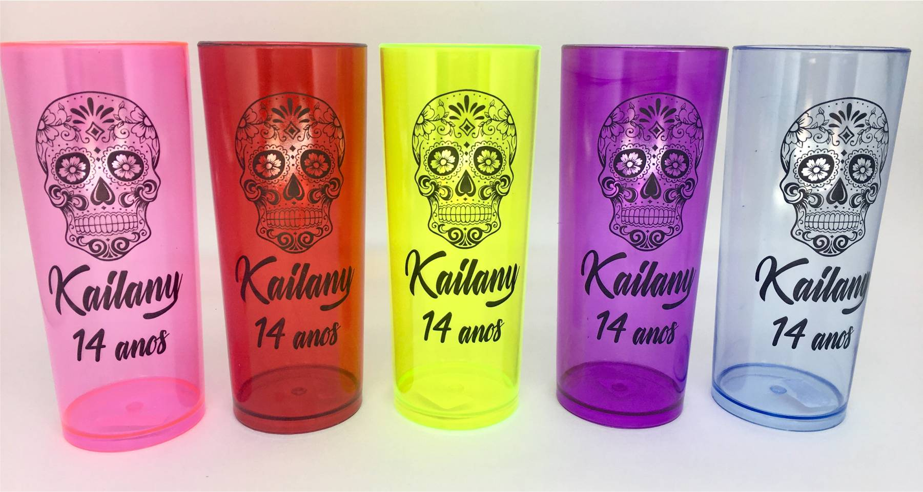 Copo Long Drink - Aniversário - Kit com 30 unidades  - Super Tri Shop - Bolas - Utilidades - Presentes