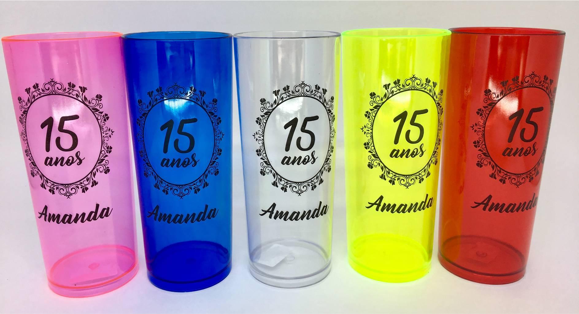 Copo Long Drink Personalizado - Kit com 50 unidades  - Bolas Lassabia - Bolas de Futebol e Volei
