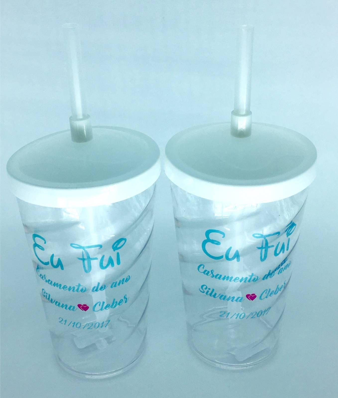 Copo Twister 500 ml Personalizado - Kit 10 Unidades - Casamento