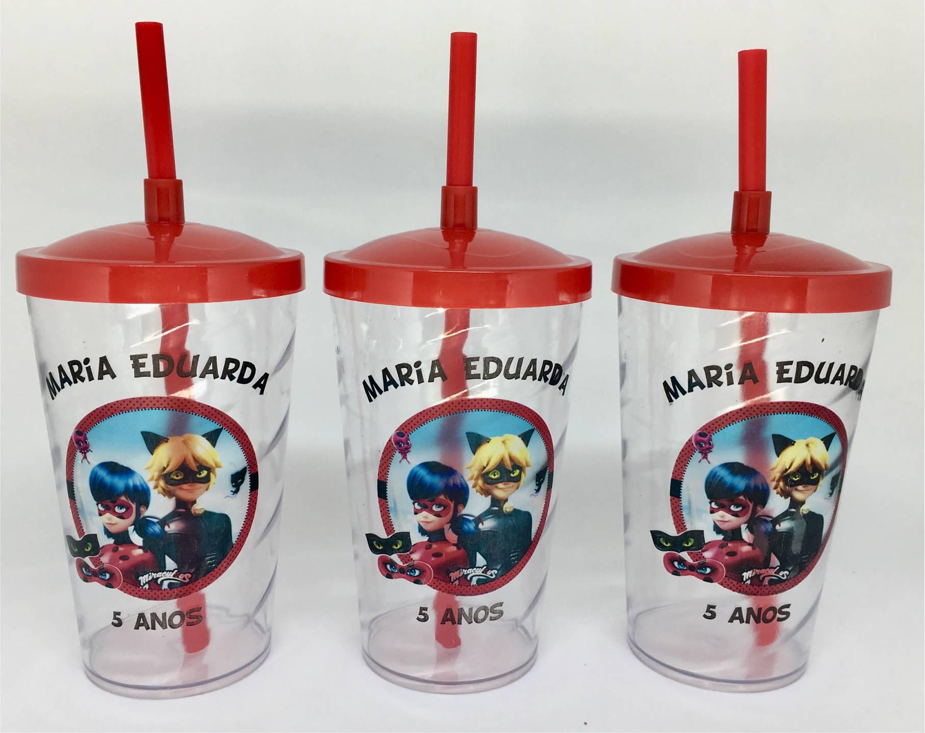 Copo Twister  Canudo e Tampa Personalizado 500 ml - kit com 20  - Super Tri Shop - Bolas - Utilidades - Presentes