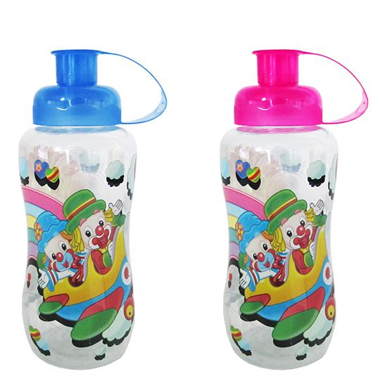 GARRAFA / SQUEEZE DE PLASTICO PET PATATI PATATA COLORS 550ML  - Super Tri Shop - Bolas - Utilidades - Presentes