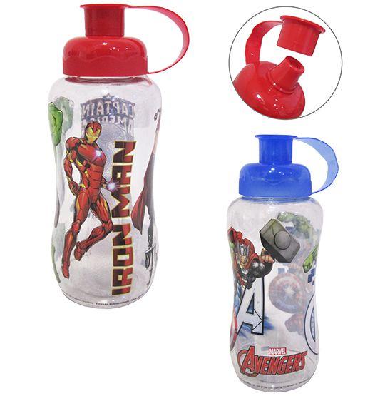 Garrafa / Squeeze de  plastico pet redonda vigadores/avengers colors 550 ml  - Super Tri Shop - Bolas - Utilidades - Presentes