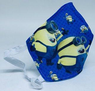 Máscara de proteção de tecido infantil kit com 10 unidades