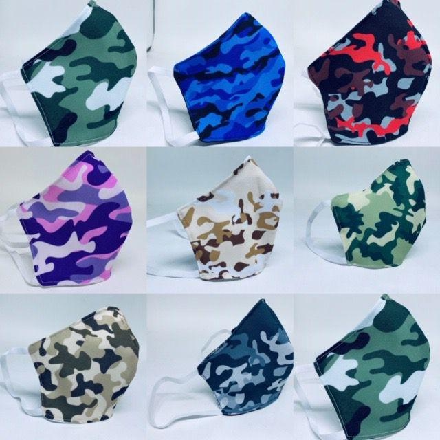 Mascara de tecido Tricoline Duplo Lavável e Reutilizável - KIT COM 05 UNIDADES