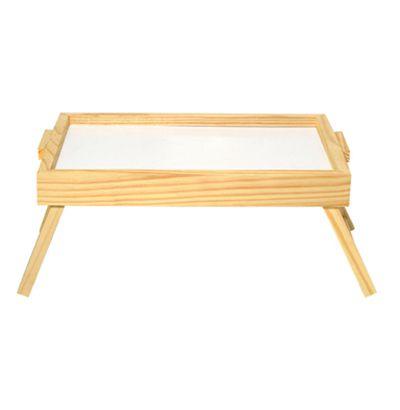 Mesa bandeja de madeira com pés  retrateis 25x40 cm  - Bolas Lassabia - Bolas e Brindes Personalizados