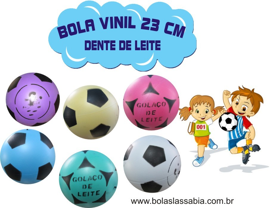 Mix 200 bolas de Vinil Dente de Leite  - 23 cm  - Super Tri Shop - Bolas - Utilidades - Presentes