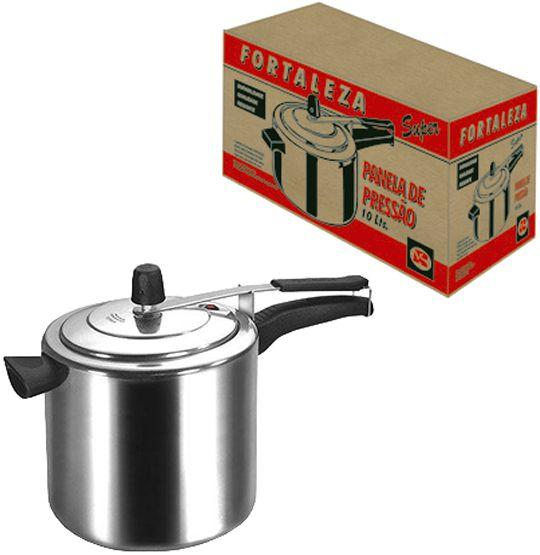 PANELA DE PRESSAO POLIDA 10L  - Super Tri Shop - Bolas - Utilidades - Presentes