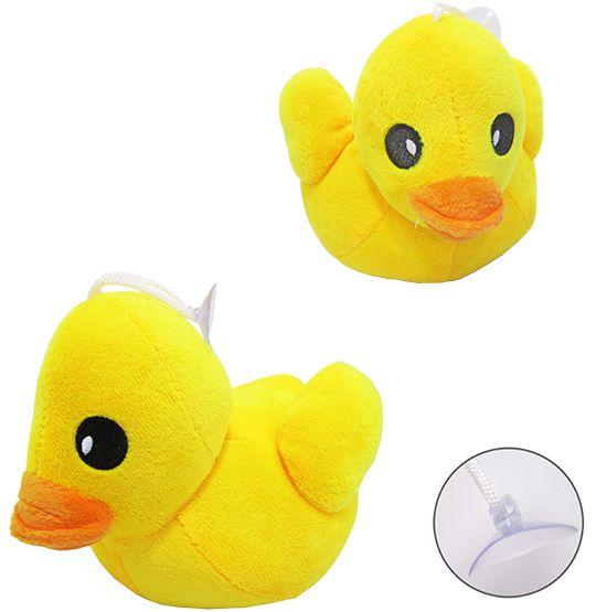 Pato de Pelúcia  com Ventosa.  - Super Tri Shop - Bolas - Utilidades - Presentes