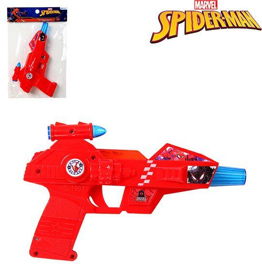 PISTOLA COM SOM E LUZ A PILHA HOMEM ARANHA/SPIDER MAN NA SOLAPA  - Bolas Lassabia - Bolas e Brindes Personalizados