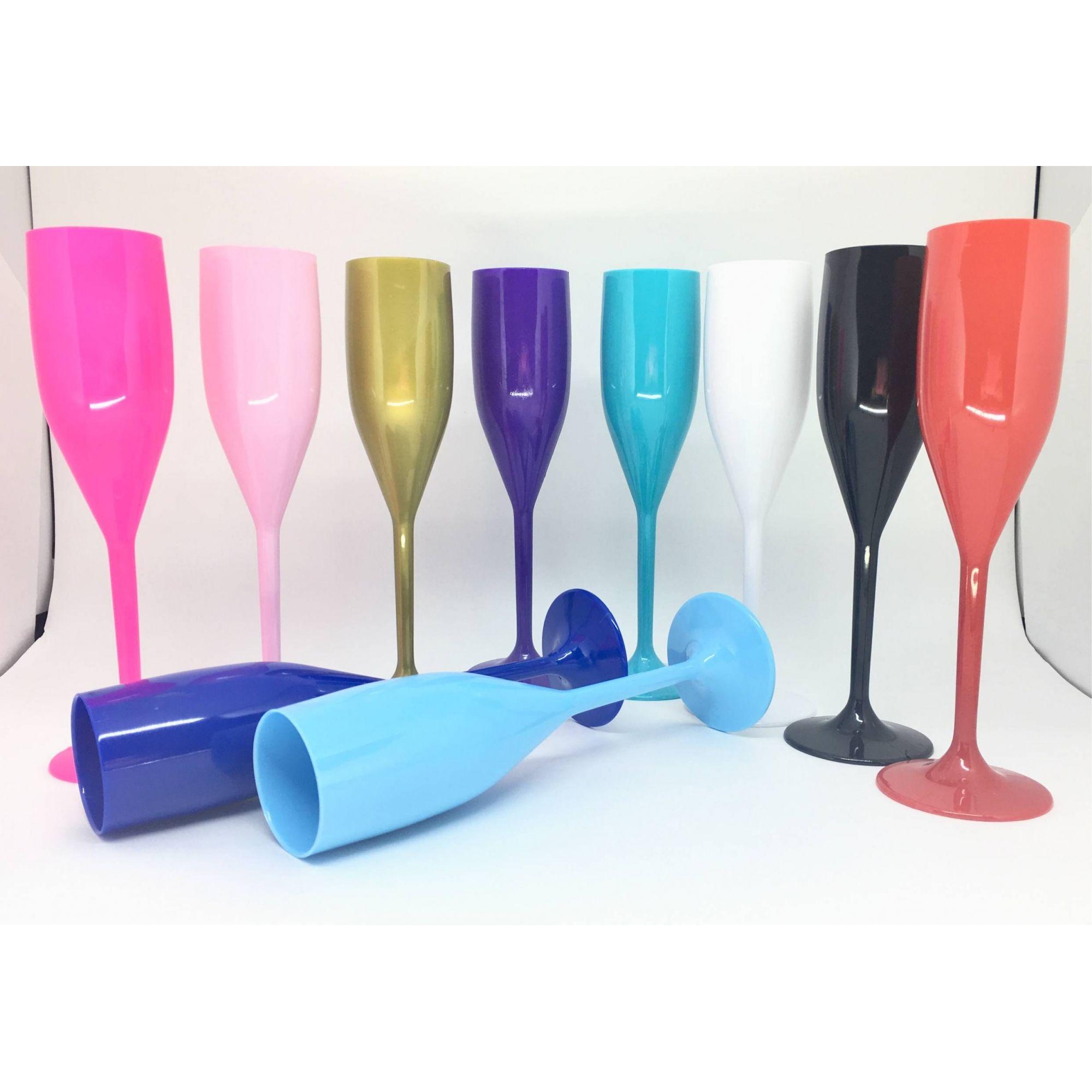 Taça de Champagne Acrílica - Kit 10 unidades  - Bolas Lassabia - Bolas e Brindes Personalizados