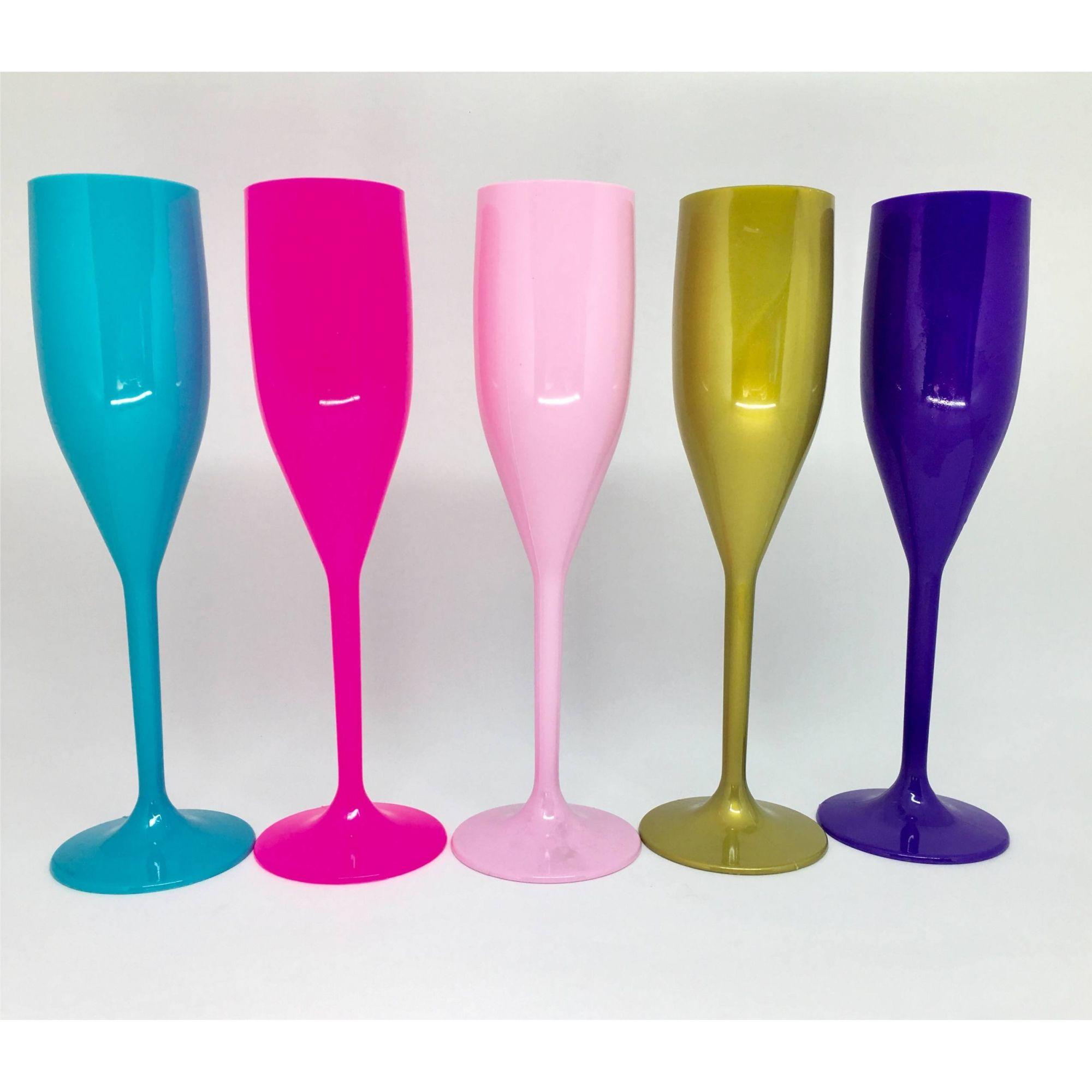 Taça de Champagne Acrílica - Kit 10 unidades  - Super Tri Shop - Bolas - Utilidades - Presentes