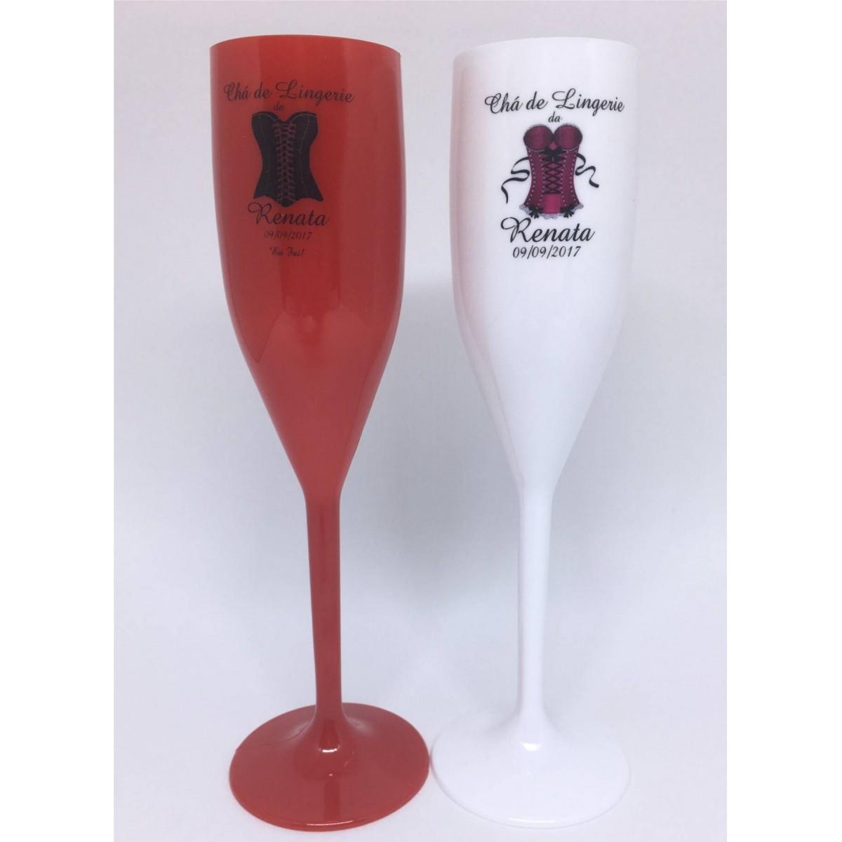 Taça Champanhe  Personalizada - Kit com 50   - Bolas Lassabia - Bolas e Brindes Personalizados