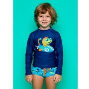 Camiseta Kids Submarino Azul | PUKET