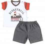 Conjunto Camiseta e Shorts Dino Basketball | PIU-PIU