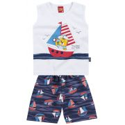 Conjunto Camiseta e Shorts Sailor | KYLY