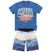 Conjunto Camiseta e Shorts Shark Area | KYLY