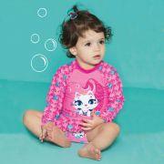 Conjunto Kids Gata Sereia Rosa Chiclete | PUKET