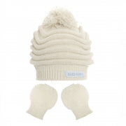 Kit Touca Gorro e Luva Acrílico (0-6 meses) | EVERLY
