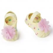 Meia Sapatilha Amarelo Flor Rosa (0-12 meses) | PUKET