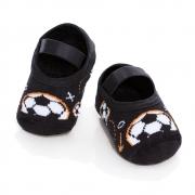 Meia Sapatilha Bola Futebol Preto (0-12 meses) | PUKET