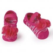 Meia Sapatilha Flor Pink Lurex (0-12 meses) | PUKET