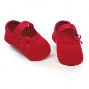 Meia Sapatilha Lacinho Vermelho (0-12 meses) | PUKET