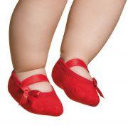 Meia Sapatilha Lacinho vermelho (12-24 meses) | PUKET