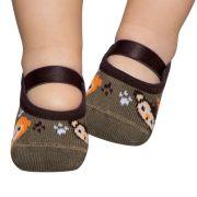 Meia Sapatilha Bichinhos Caqui (0-12 meses) | PUKET