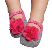 Meia Sapatilha Mescla Flor Pink (12-24 meses) | PUKET