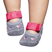 Meia Sapatilha Mescla Laço Pink (0-12 meses) | PUKET