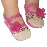 Meia Sapatilha Oncinha Flor Pink (0-12 meses) | PUKET