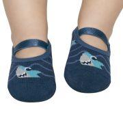 Meia Sapatilha Tubarão Marinho (12-24 meses) | PUKET