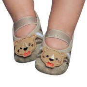 Meia Sapatilha Urso Bege (0-12 meses) | PUKET