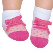 Meia Tênis Antiderrapante Rosa Médio (12-24 meses) | PUKET