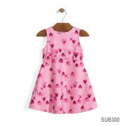 Vestido de Corações Rosa | UP BABY