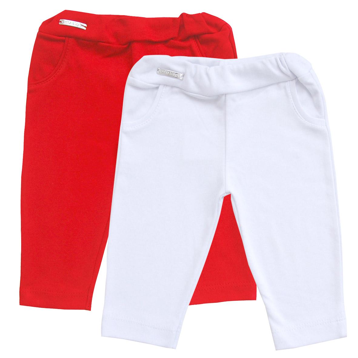 Calça de Suedine Retro Kit com 2 Branco e Vermelho | SONHO MAGICO