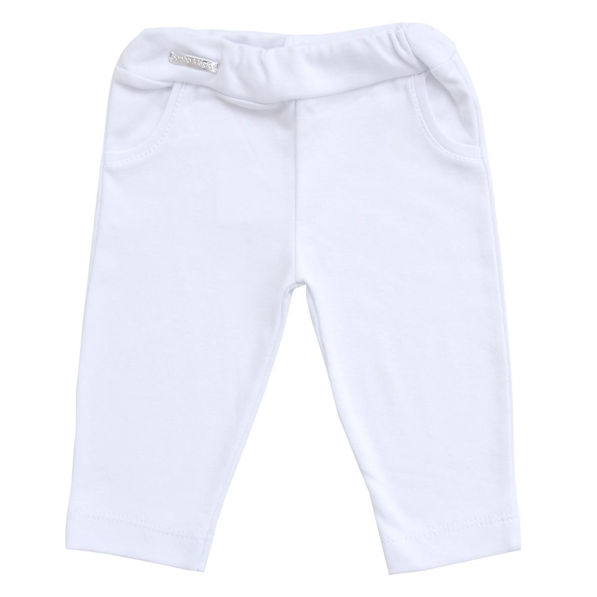 Calça Suedine Retro Kit com 2 Branco e Marinho | SONHO MAGICO