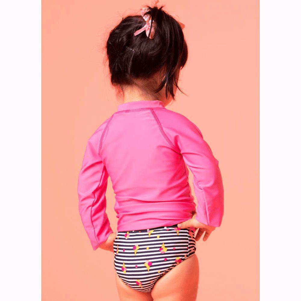 Camiseta Baby Básica Lisa Rosa | PUKET