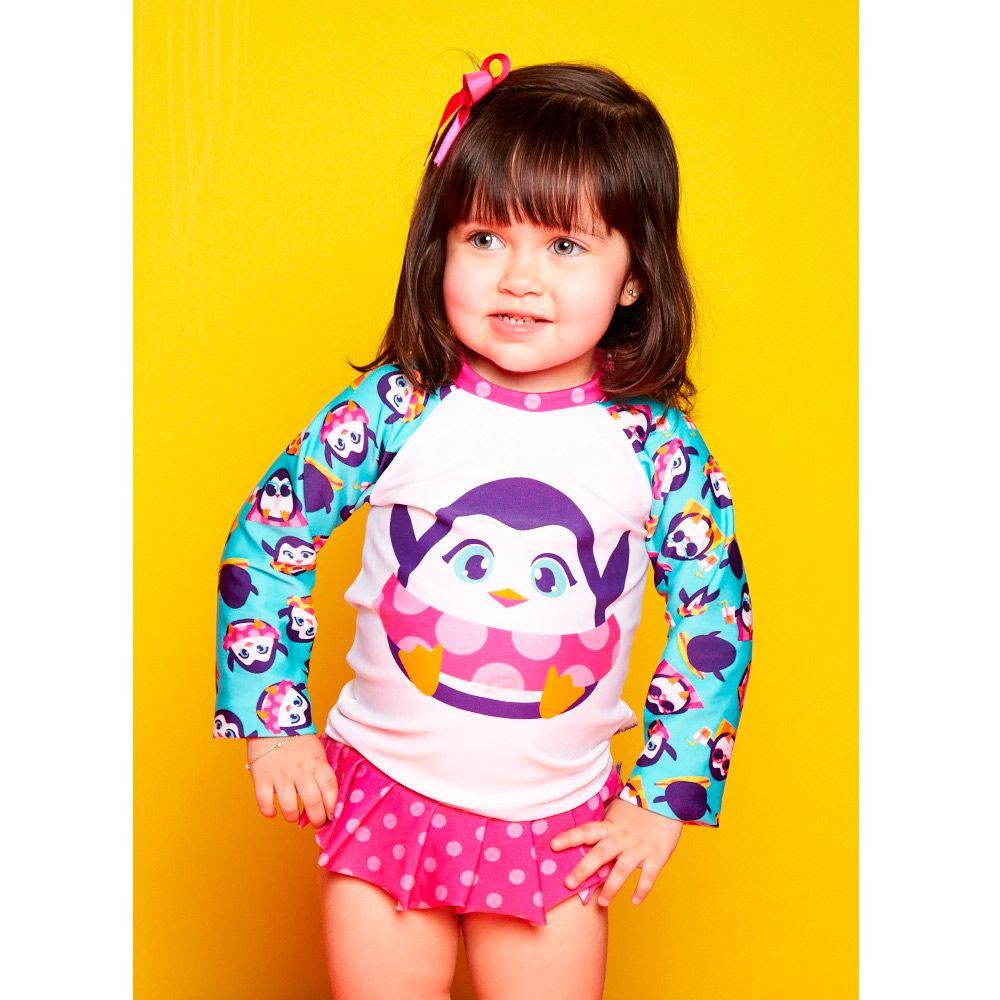 Camiseta Baby Pinguim Estampado | PUKET