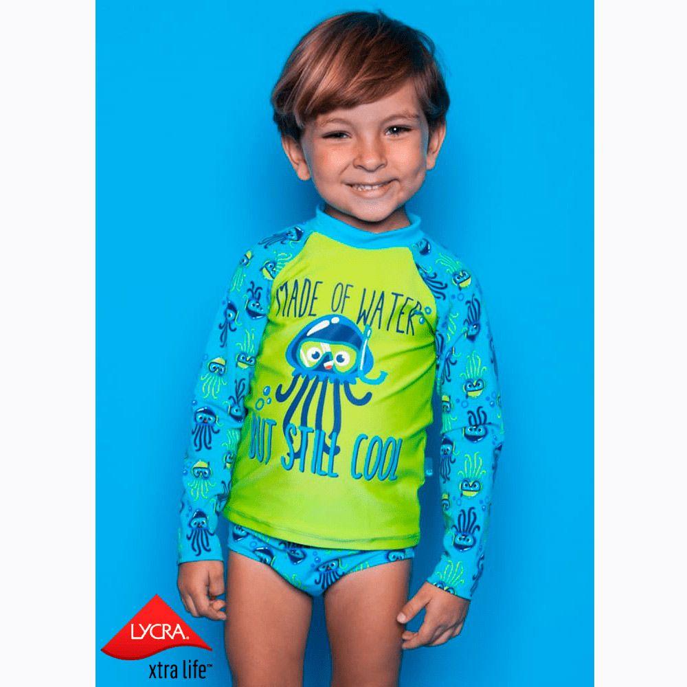 Camiseta Kids Água Viva Azul Piscina | PUKET