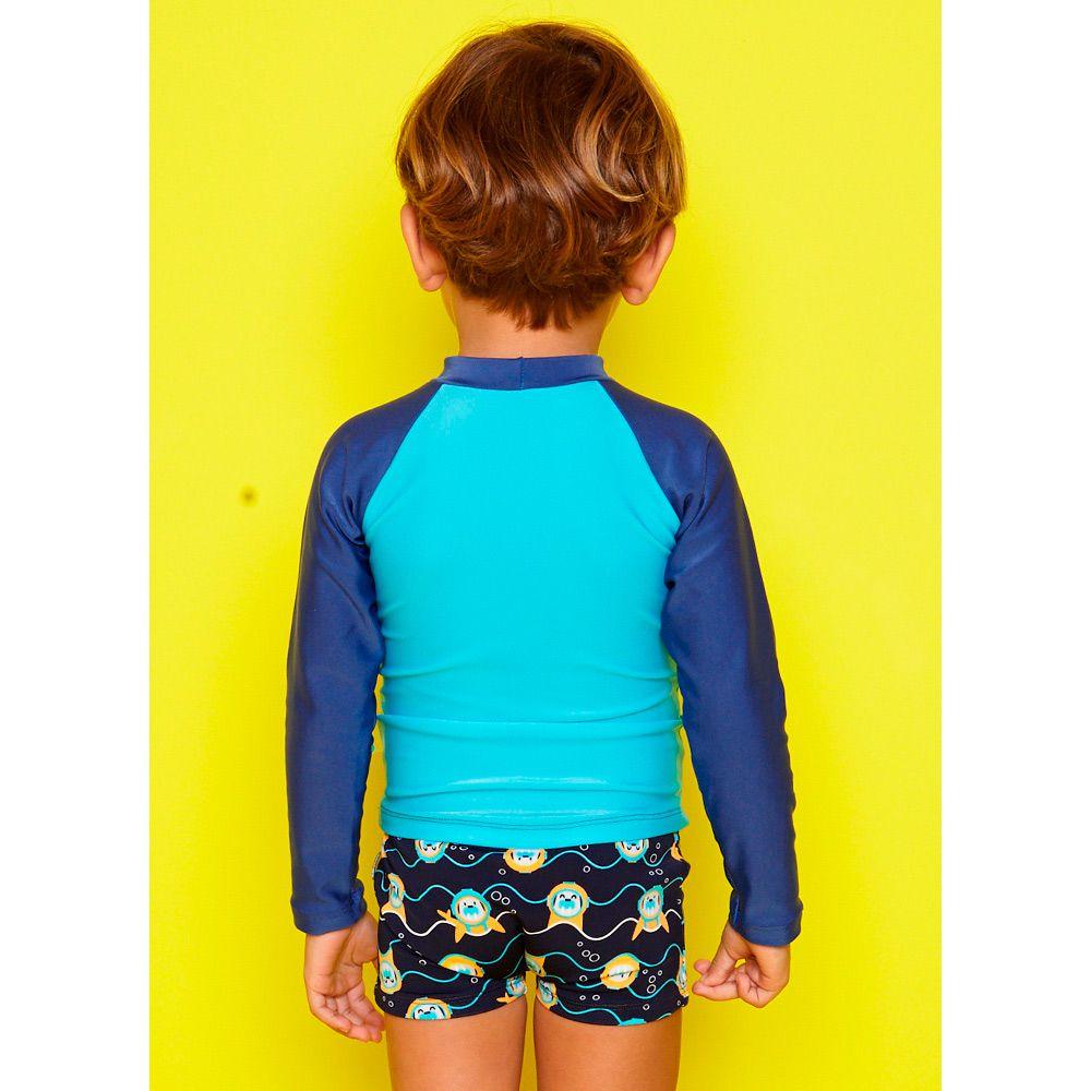 Camiseta Kids Morsa Mergulhadora Azul | PUKET